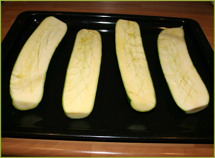 Calabacines rellenos de carne picada - paso 1