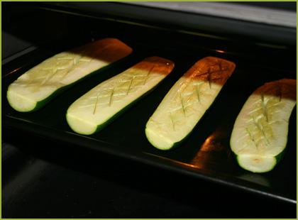Calabacines rellenos de carne picada - paso 2