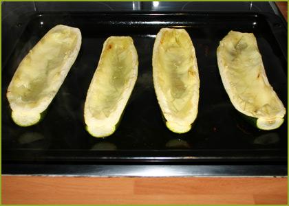 Calabacines rellenos de carne picada - paso 3