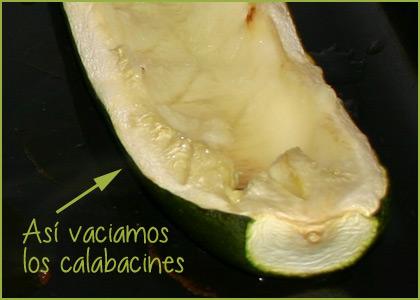 Calabacines rellenos de carne picada - paso 4