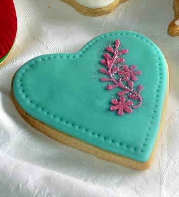Galleta decorada con forma de corazón