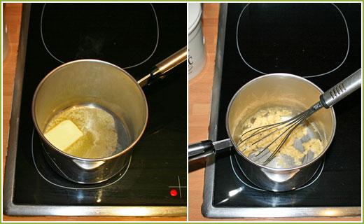 Mantequilla y harina para hacer un roux
