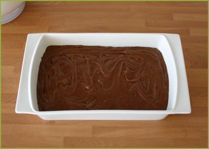 Masa en molde para hacer brownie