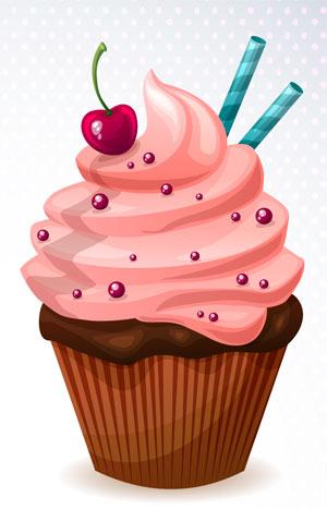 Ilustración de un cupcake