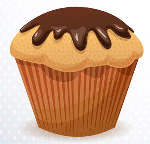 Ilustración de un muffin
