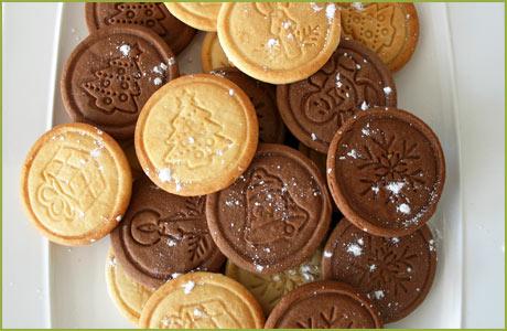 Galletas de Navidad de mantequilla y chocolate