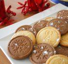 Galletas de Navidad decoradas con sello