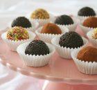 Receta de trufas de chocolate negro