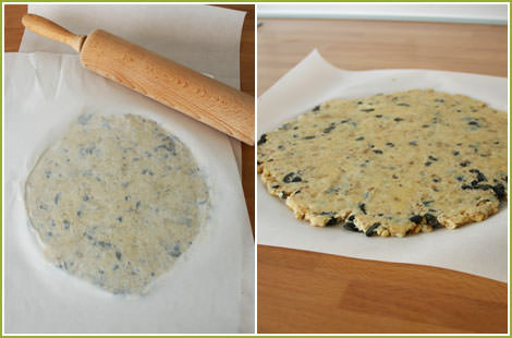 Extender la masa de las galletas saladas