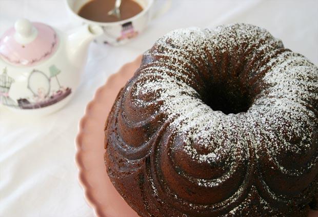 Bundt cake de chocolate rceta fáciñ