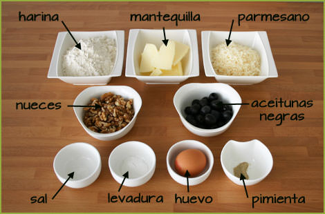 ingredientes de las galletas