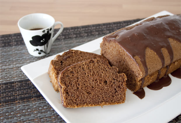 Bizcocho de café y chocolate sin azúcar