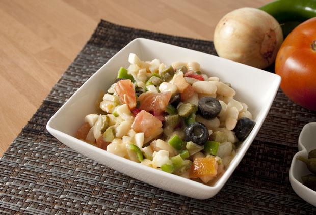 Receta fácil de ensalada de alubias a la vinagreta