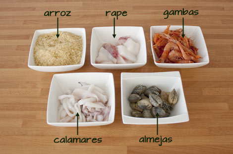 Ingredientes para hacer arroz caldoso con Thermomix