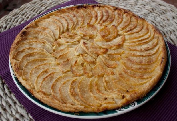 Receta de tarta fina de manzana