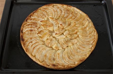 Tarta manzana con hojaldre fácil
