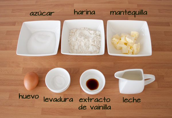Ingredientes para hacer cake pops fáciles