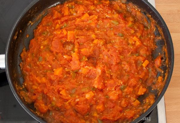 Así debe quedar la salsa de tomate