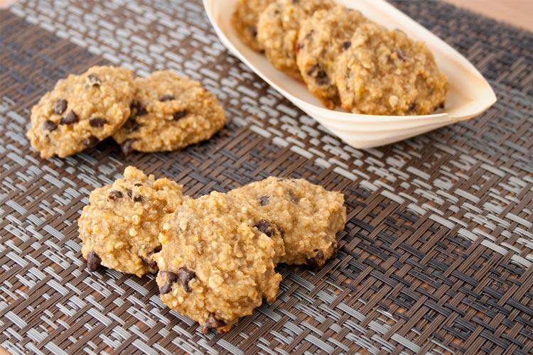 Receta de galletas de avena y plátano veganas