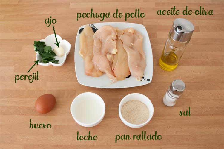 Ingredientes para hacer hamburguesas de pollo caseras para niños