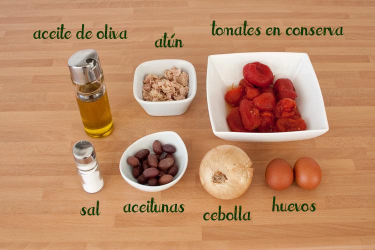 Ingredientes ensalada murciana