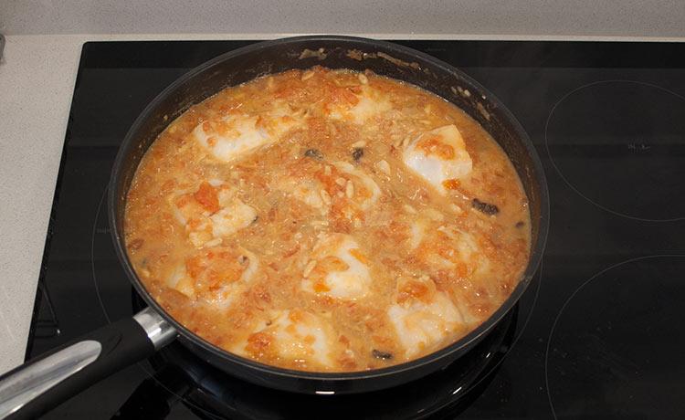Un plato de bacalao muy rico