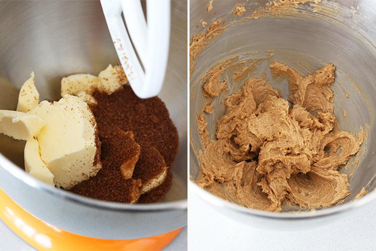 Mezclar la mantequilla y el azúcar