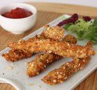 Fingers de pollo rebozados con kikos
