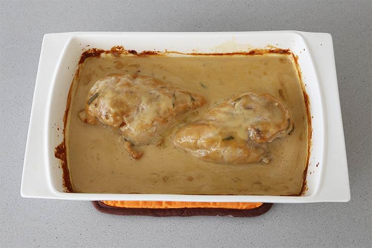 Pechugas de pollo con salsa de miel y mostaza
