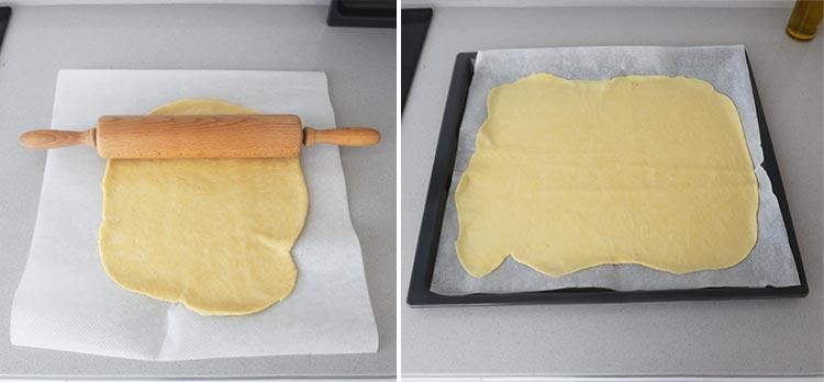 Extender la masa de la empanada