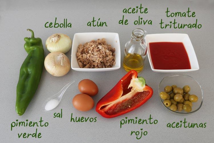 Ingredientes para hacer empanada gallega tradicional