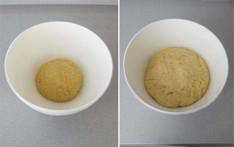 Dejar fermentar la masa hasta que doble su volumen