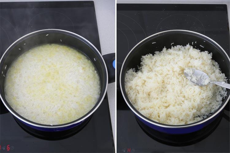 Hervir el arroz basmati
