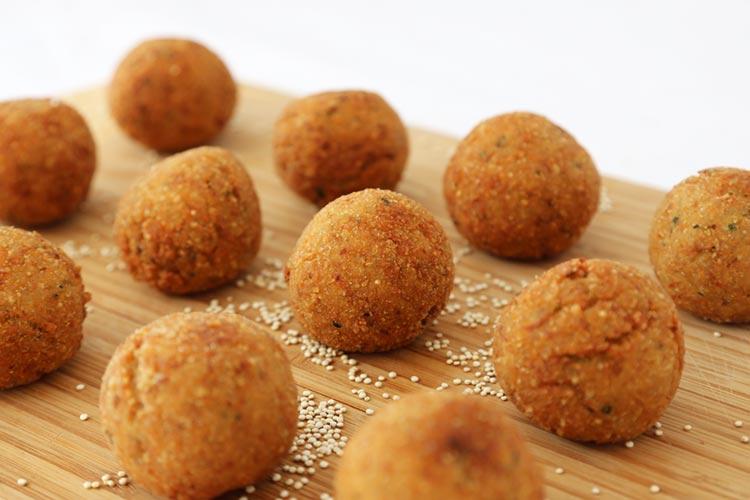 Croquetas crujientes de quinoa