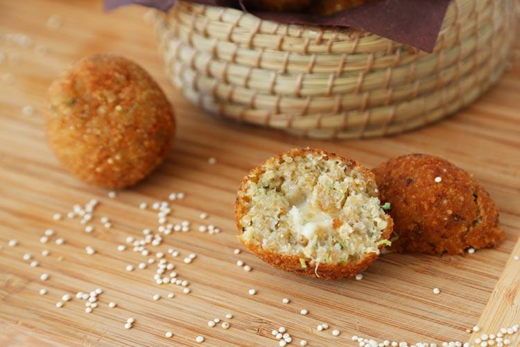 Croquetas de quinoa rellenas de queso