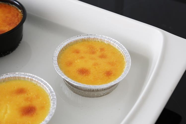 Cuajar el flan de queso curado