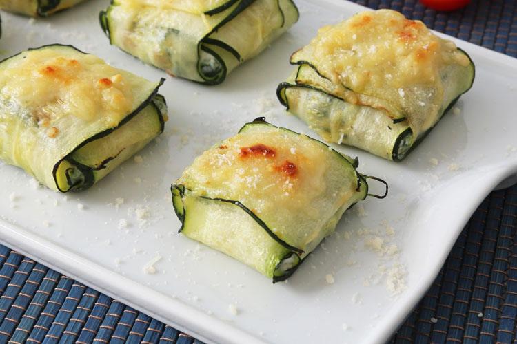 Ravioli de calabacín, ricotta y espinacas