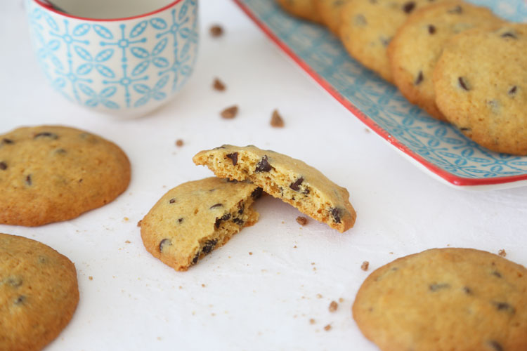 Así de crujientes quedan las cookies caseras