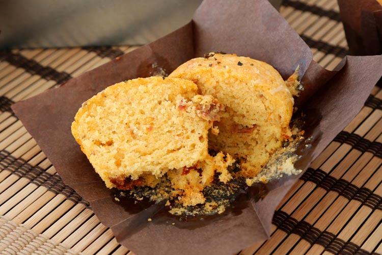 Así de esponjoso quedan estos muffins salados