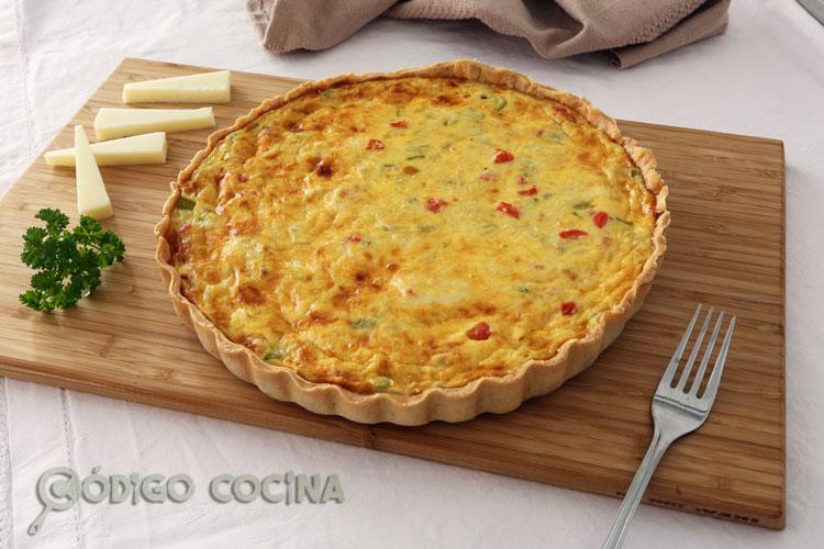 Quiche de verduras y queso tierno