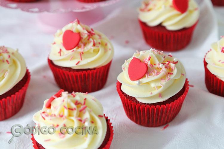cupcakes de red velvet fáciles