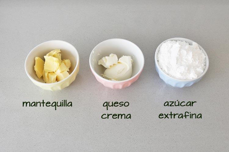 Ingredientes para hacer la crema de queso