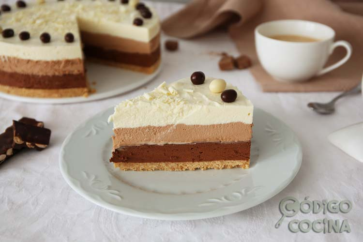 Cómo hacer tarta de tres chocolates