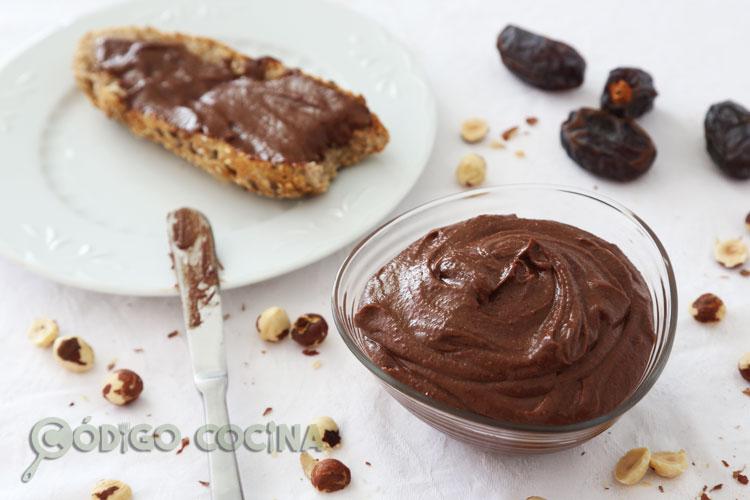 Crema de cacao saludable y vegana
