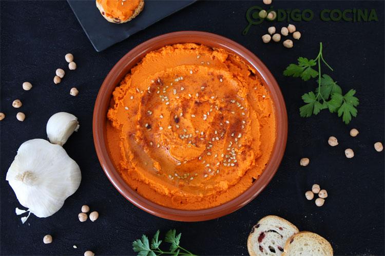 Hummus de pimiento del piquillo