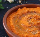 Hummus de pimiento rojo
