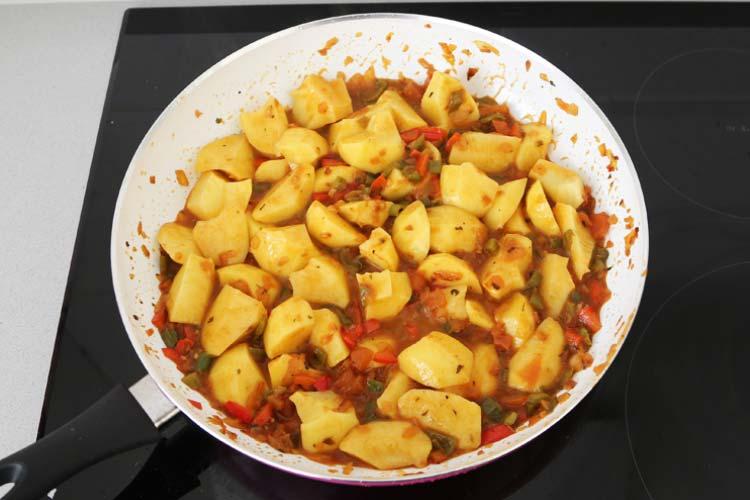 Saltear las patatas