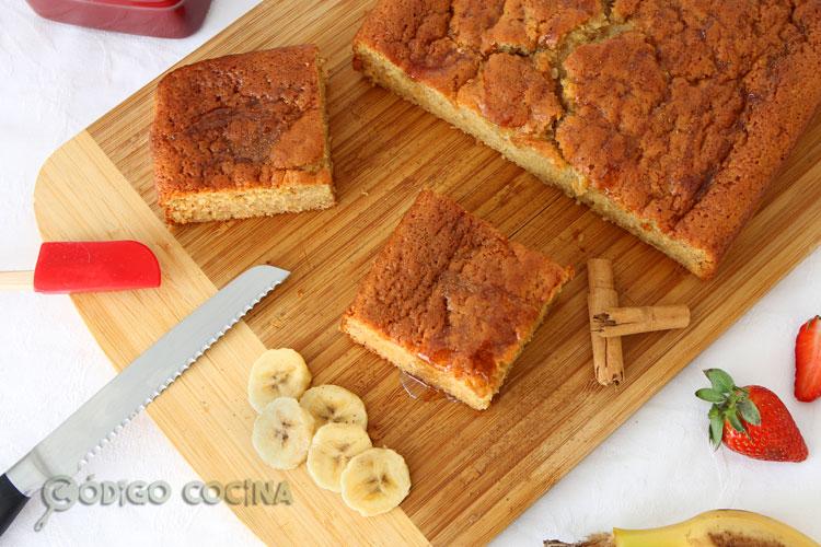 Bizcocho de plátano y miel