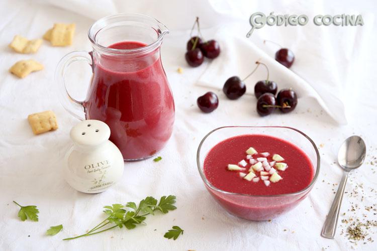 Receta de gazpacho de cereza