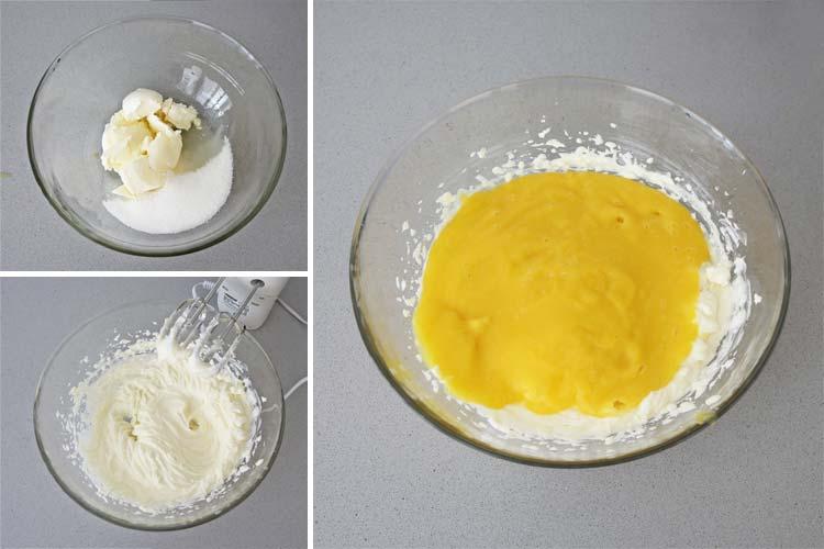 Prepara la crema de la cheesecake de mango